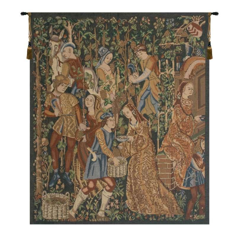 Vendages, Right Side (Rust) Belgian Tapestry