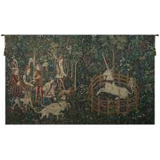 Unicorn Captive and Unicorn Hunt Belgian Tapestry