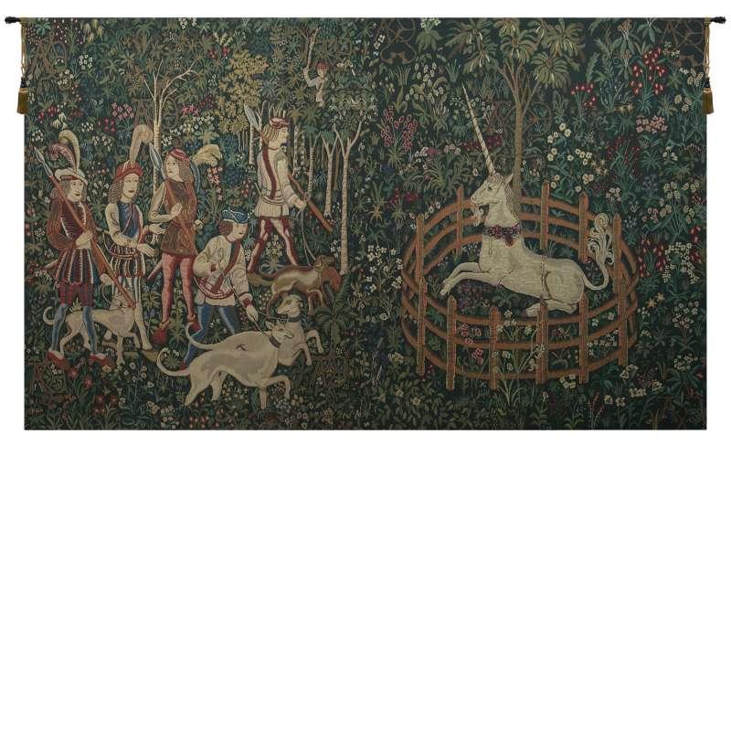 Unicorn Captive and Unicorn Hunt Belgian Tapestry
