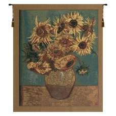 Sunflowers, Gold Belgian Tapestry
