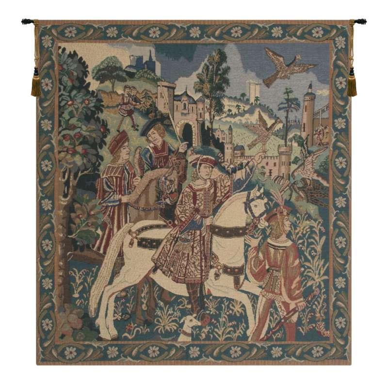Falcon Hunt Belgian Tapestry