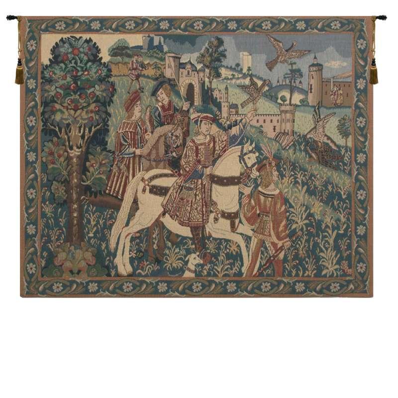 Falcon Hunt II Belgian Tapestry