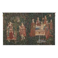 Bath and Reading in the Garden Belgian Tapestry