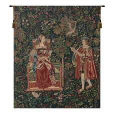 Reading in the Garden Belgian Tapestry