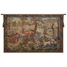 Hunt of the Boar Belgian Tapestry