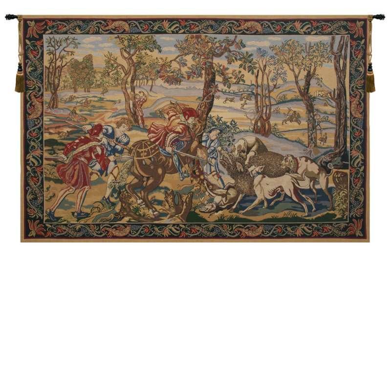 Hunt of the Boar Belgian Tapestry