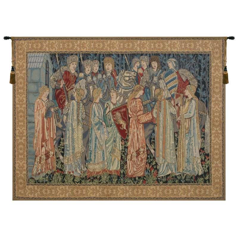 Knights Departure  Belgian Tapestry
