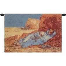 Repose of the Farmer Belgian Tapestry