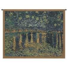 Van Gogh's Starry Night Over the Rhone Belgian Tapestry