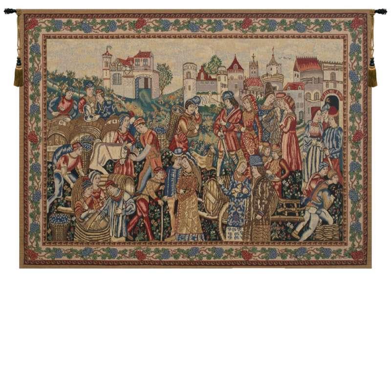 Wine Merchants Belgian Tapestry