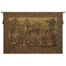 The King's Departure I European Tapestry Wall Hanging