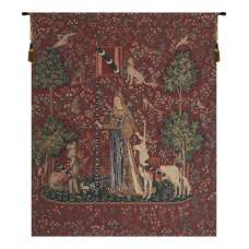 Touch, Lady and Unicorn Belgian Tapestry