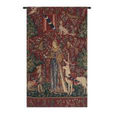 Touch, Lady and the Unicorn Belgian Tapestry