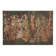 Wine Makers, Terracotta Belgian Tapestry