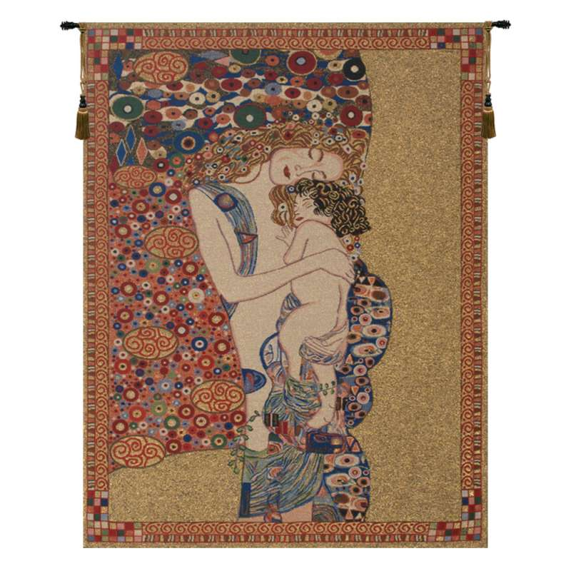 Klimt's Mother and Child Belgian Tapestry