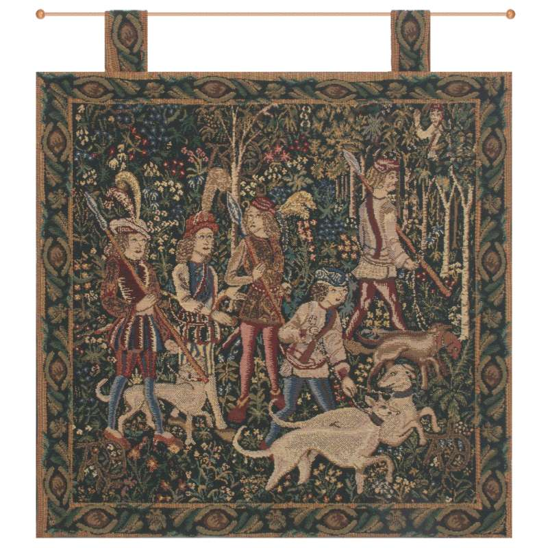 Unicorn Hunt with Loops Belgian Tapestry