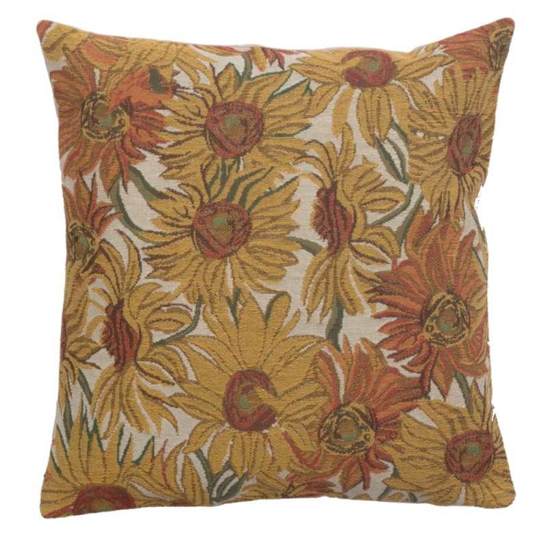Sunflowers Yellow Belgian Cushion Cover
