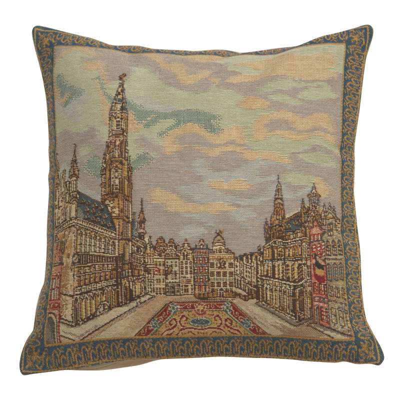 Grand Place Brussels  Belgian Cushion Cover