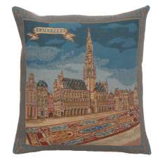 Grand Place Brussels II Belgian Cushion Cover