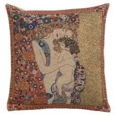 Mere et Enfant by Klimt Belgian Cushion Cover