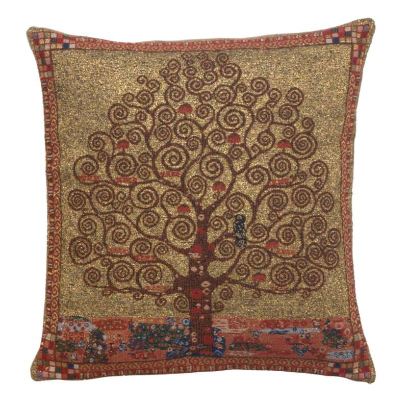 Klimt Tree of Life I Belgian Cushion Cover
