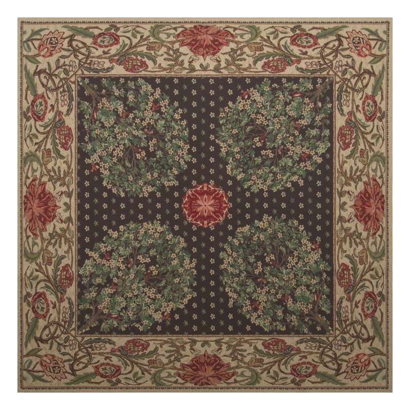 Tree of Life Brown Tapestry Throw
