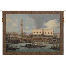 Bucintoro at the Dock Italian Tapestry Wall Hanging