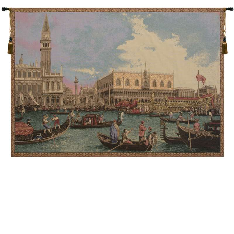 Bucintoro Venice Italian Tapestry Wall Hanging