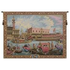 Return of Bucintoro Italian Tapestry Wall Hanging