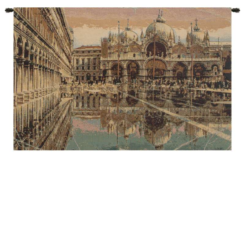 Alta Marea in Piazza San Marco Italian Tapestry Wall Hanging