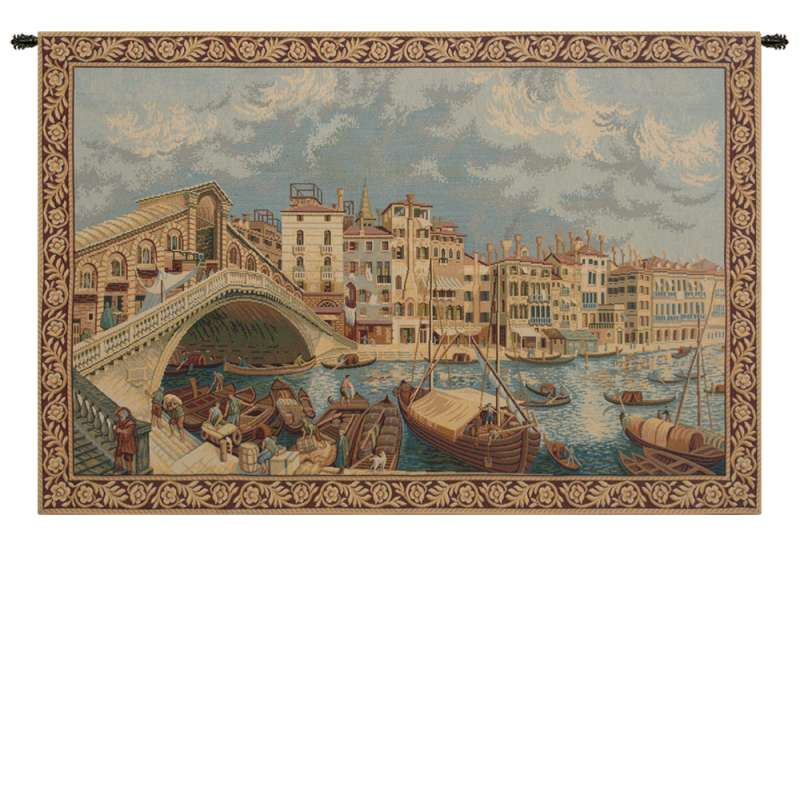 Ponte di Rialto Italian Tapestry Wall Hanging