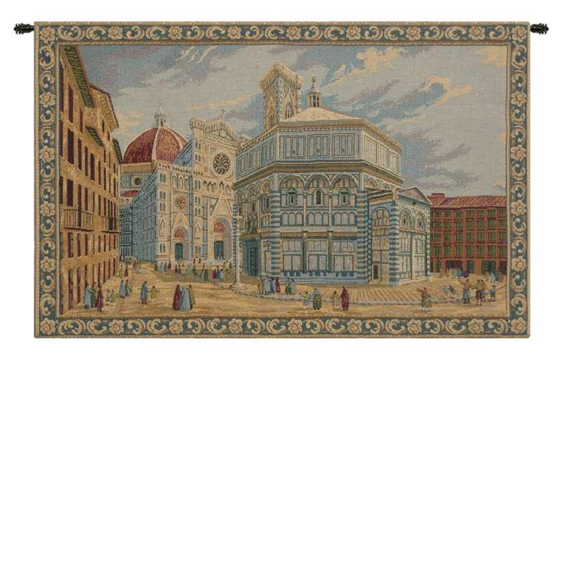 Duomo e Battistero Firenze Italian Tapestry Wall Hanging