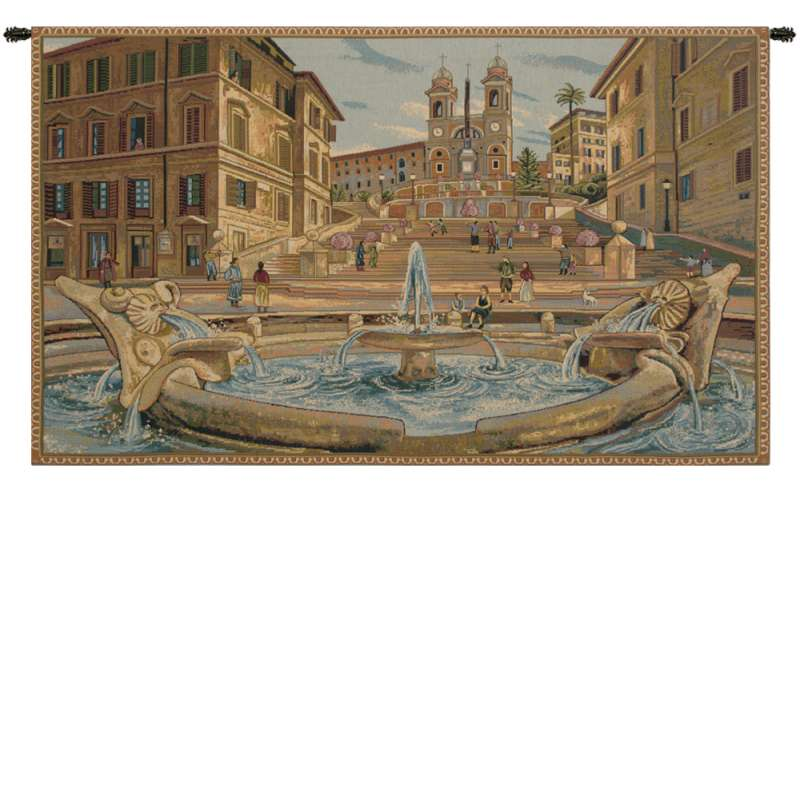 Piazza di Spagna Italian Tapestry Wall Hanging