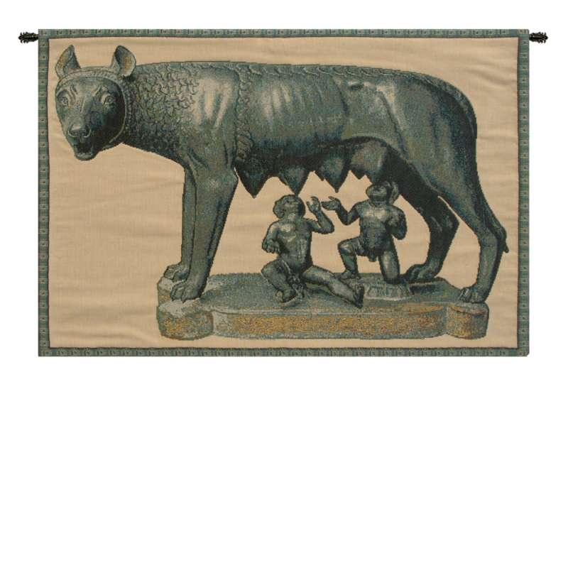Lupa Capitolina Italian Tapestry Wall Hanging