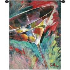 Unforgettable Cocktail Glass by Simon Bull Belgian Tapestry Wall Hanging