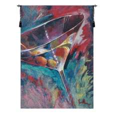 Unforgettable Cocktail Glass Belgian Tapestry Wall Hanging
