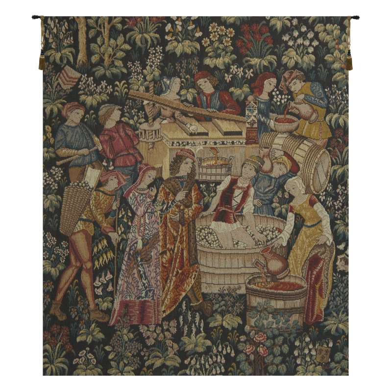 Le Pressoir French Tapestry Wall Hanging