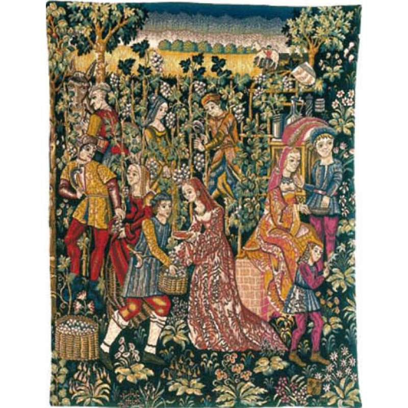 La Cueillette French Tapestry Wall Hanging
