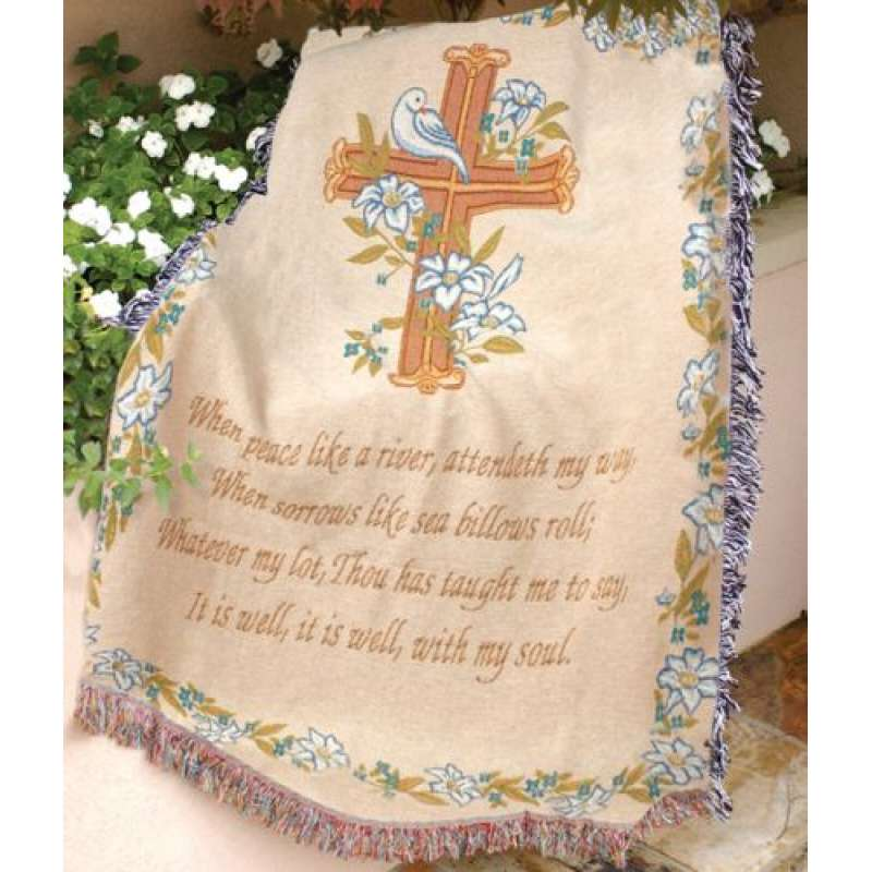 It Is Well With My Soul Tapestry Throw