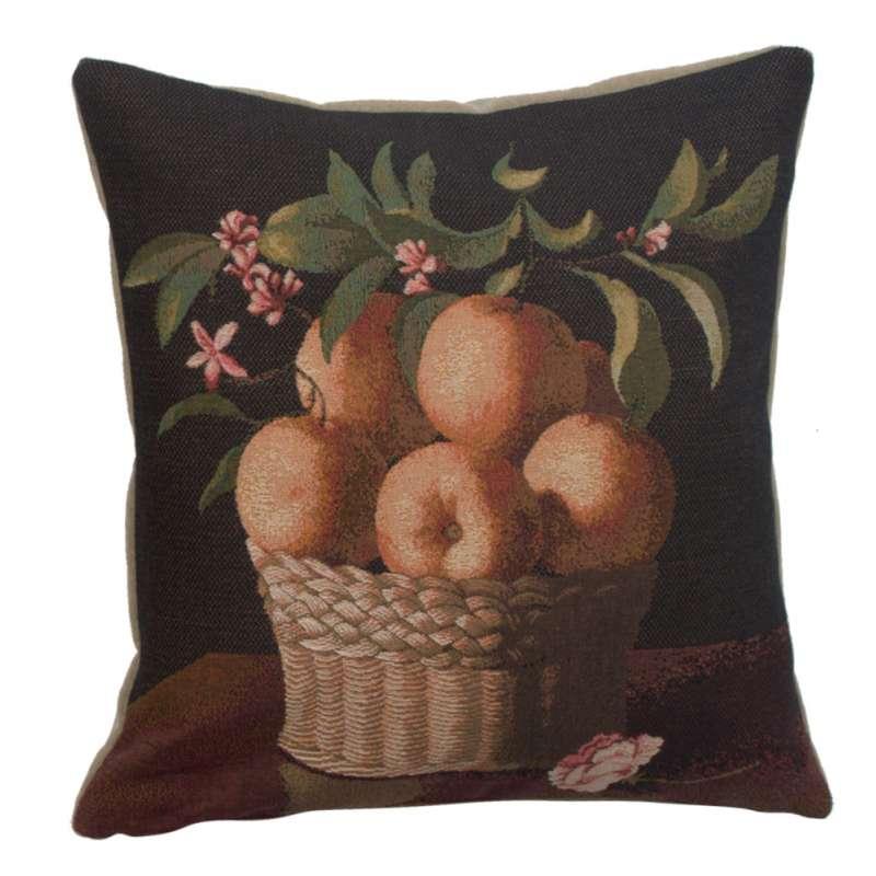 Orange Basket French Tapestry Cushion