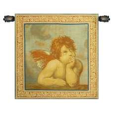 Raphaels Angel Left Panel Italian Tapestry Wall Hanging