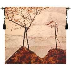 Autumn Sun and Trees Fine Art Tapestry