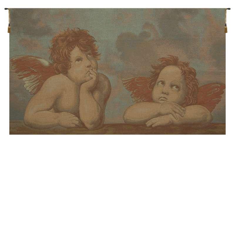 Raphael's Angels Italian Tapestry Wall Hanging
