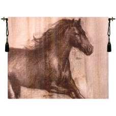 Dynamic Stallion Fine Art Tapestry