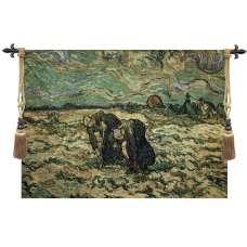 Two Peasant Women Fine Art Tapestry