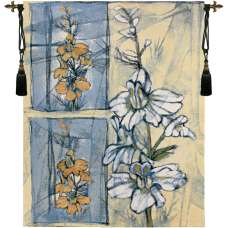 Embellished Wildflower Collage II Fine Art Tapestry