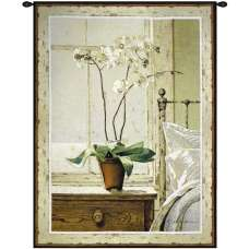 Orchids In the Window I Tapestry Wall Art