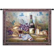 Wine Grapes and Bread Tapestry Wall Art