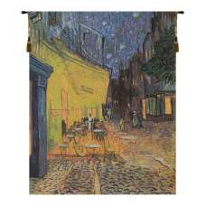 Cafe Terrace at Night 1 Belgian Tapestry Wall Hanging