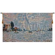 Regatta a l'argenteuil Flanders Tapestry Wall Hanging
